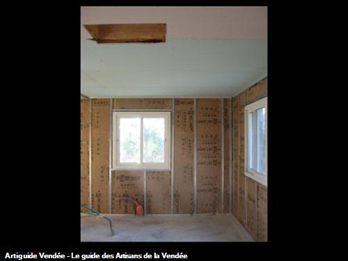 réalisation d'un chantier en plaque de plâtre et isolation à st jean de monts 85160
