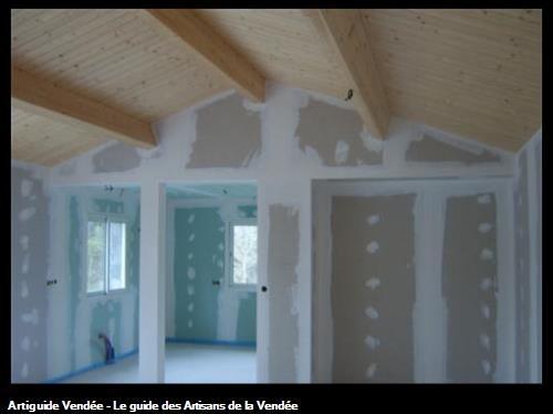 réalisation d'un chantier en plaque de plâtre à st jean de monts 85160