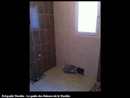 Suite carrelage murale et sol salle de bain Luçon 85400