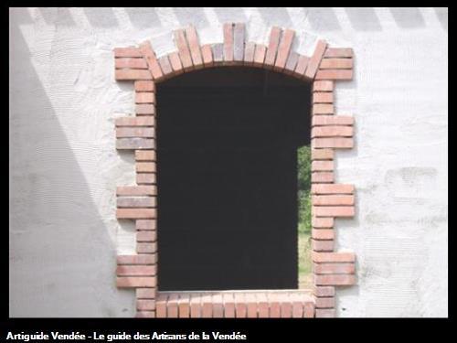 ouverture en briques terre cuite imitation ancien à la Boissière des Landes