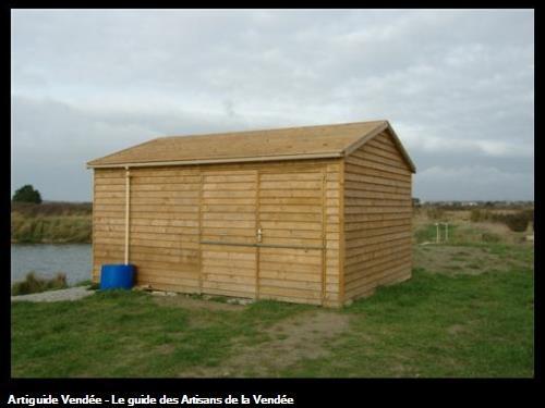 Cabane en bois du saunier