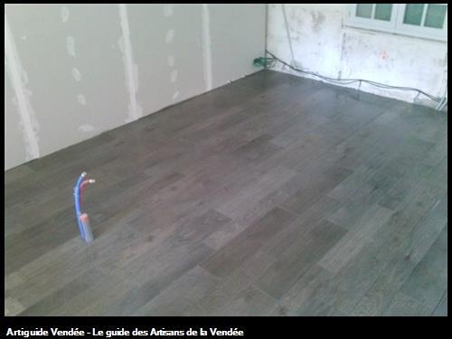 carrelage immitation parquet sur pièce  en rénovation