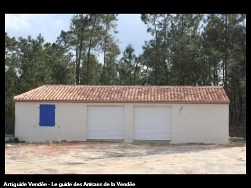 réalisation d'un garage: maçonnerie, enduits, couverture, charpente