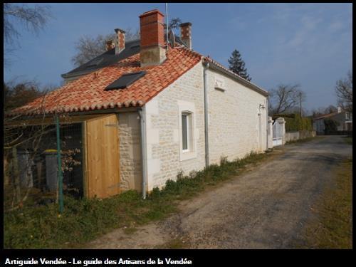 Restauration d'une maison d'habitation à la Pichonnière.Après travaux.