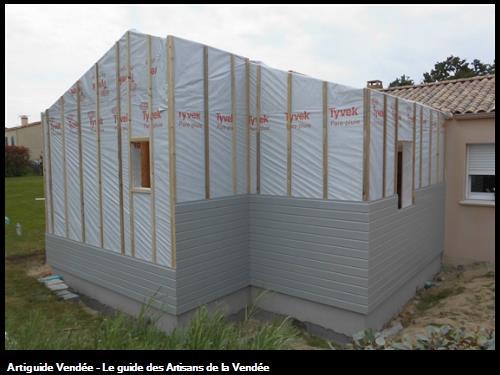 Bardage bois couleur coloris GRIS MAISON 85430 LES CLOUZEAUX