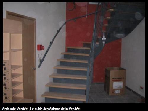 Pose de marche Bois sur escalier métallique