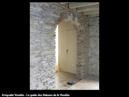 Création d'ouverture dans mur en pierre