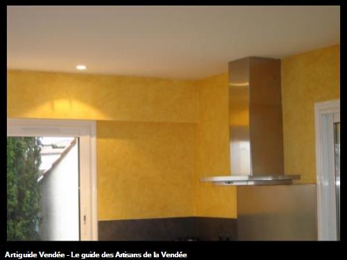 Peinture d'une cuisine en peinture décoratif