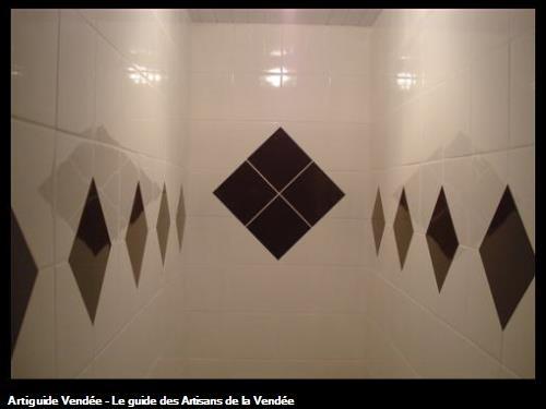 Pose de faience en diagonale, Luçon 85400