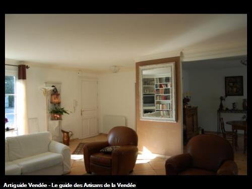 chaux stuccé en rappel de l image 1,réalisé par l'entreprise Guy Praud SARL (Mouilleron le Captif 85000)