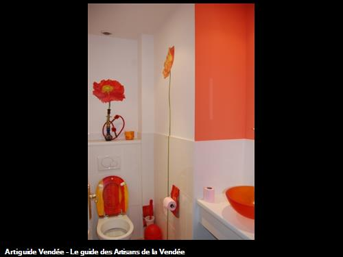 murs en laque mat couleur assortie au mobilier,réalisé par l'entreprise Guy Praud SARL (Mouilleron le Captif 85000)