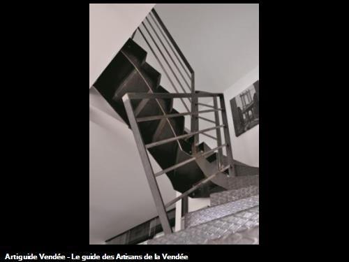 Gros plan escalier metal Les Sables d'Olonne 85340