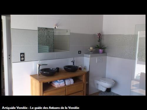réalisation d'une salle de bain sur olonne sur mer 85340