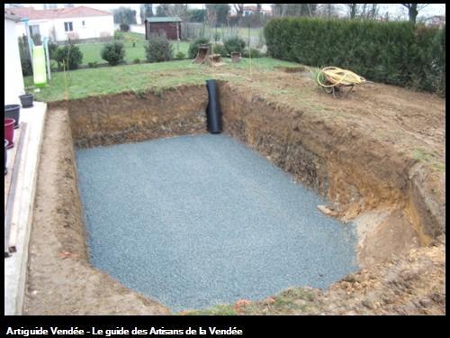 creusage pour pose piscine sur le secteur des Herbiers 85500