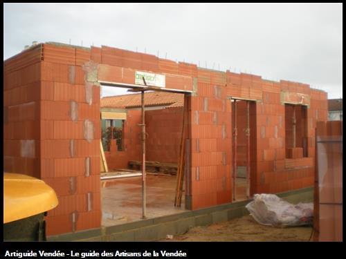 Réalisation maison en briques