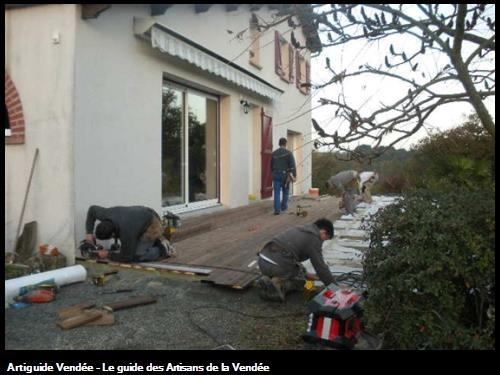 pendant travaux - terrasse bois Cugand 85610