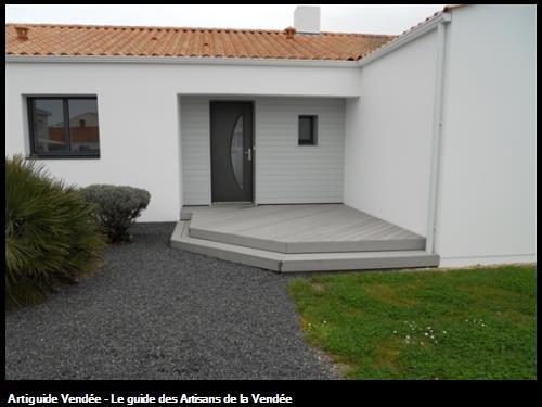 Réalisation d'une terrasse en composite sur Saint Gilles Croix de Vie 85 Vendée