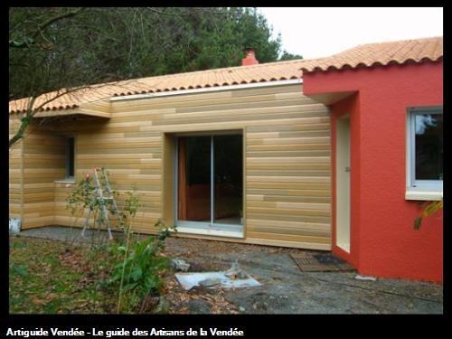Isolation par l'extérieur d'une maison existante (bardage bois)