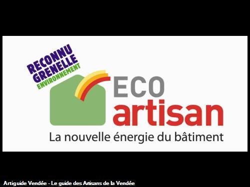 Qualification ECO ARTISAN - reconnu Grenelle Environnement -
