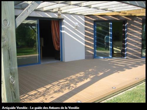 Pergola et Terrasse bois à BEAUREPAIRE
