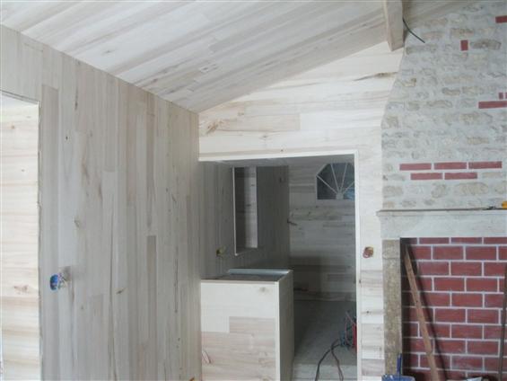 Habillage murs en bois de peupliers
