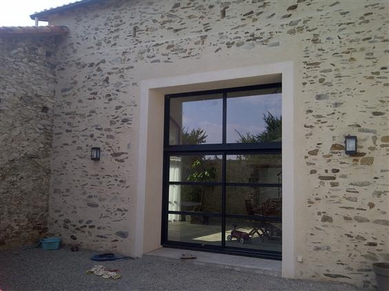 Création ouverture - mur ancienne grange