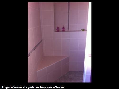 Siège carrelé dans douche à l'italienne, La Tranche sur Mer 85360