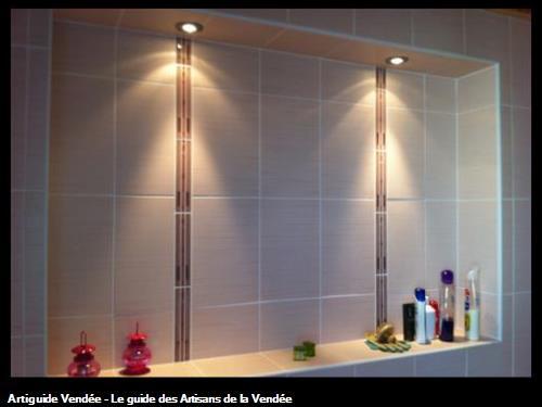 Niche carrelée dans douche à l'italienne, La Tranche sur Mer 85360