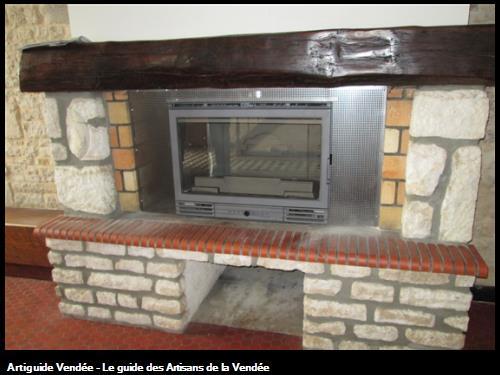 pose d un insert bois dans une cheminée existante sur la commune du Langon