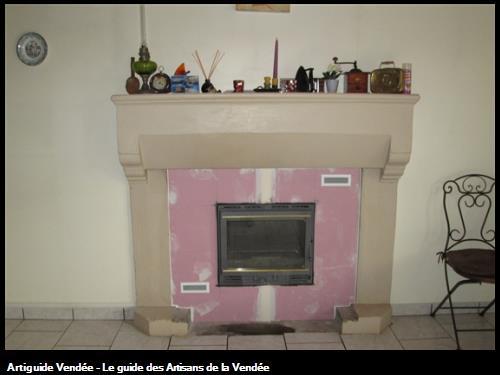 pose d un insert bois dans une cheminée secteur st hermine