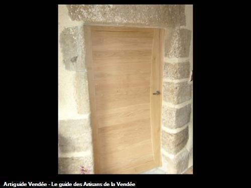Porte intérieure en chêne massif sur mesure