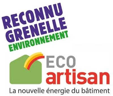Reconnu Eco Artisan depuis Juin 2013