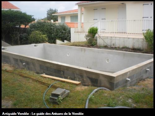 Réalisation de coffrage de piscine sur secteur de Challans