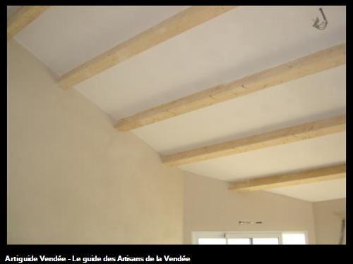 plafond plaques et cloisons enduites plâtre/ à St Hilaire de Riez 85270