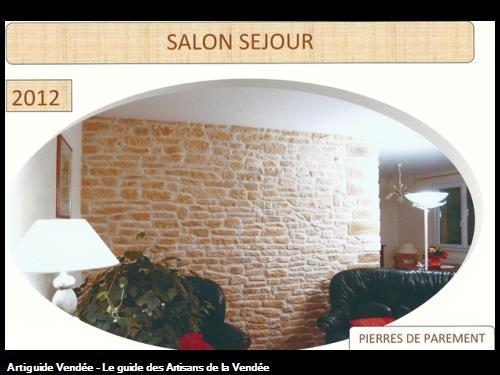 Réalisation de pierres de parement par l'entreprise Guy Praud SARL (Mouilleron le Captif 85000)
