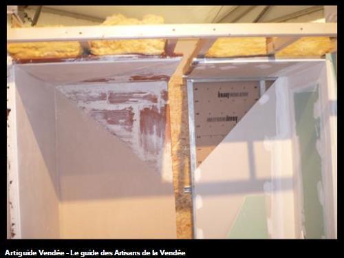 côté plâtre et brique / côté plaques/ Vendée Artisanat au Conseil général 85000