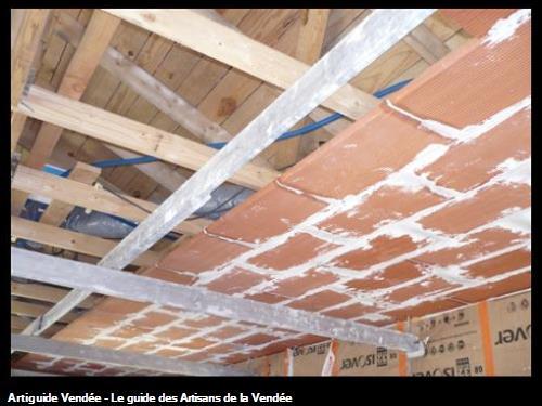 plafond briques en cours / à St Gilles Croix de Vie 85800