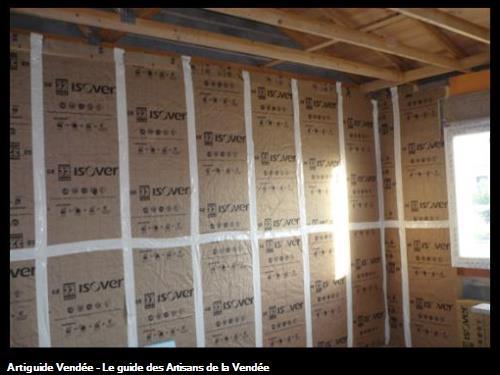 isolation en cours avant briquetage / à St Gilles Croix de Vie 85800