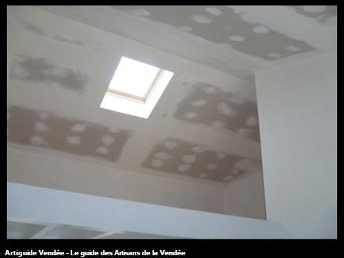 plafond rampant plaques / à St Hilaire de Riez 85270