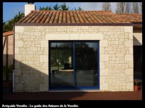 habillage façade avec parments La Roche sur Yon 85000