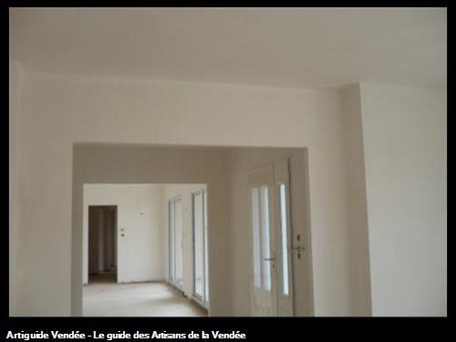 entrée / enduit plâtre / au Fenouiller 85800
