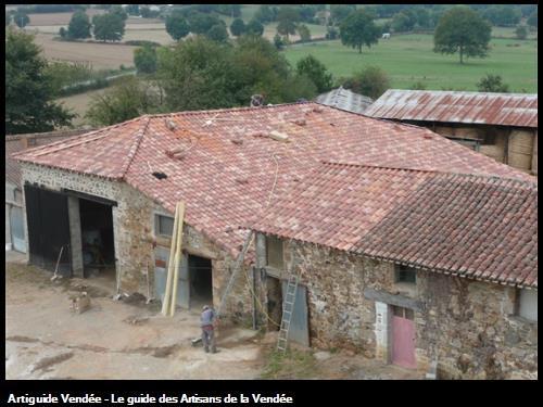 Rénovation couverture sur batiment agricole