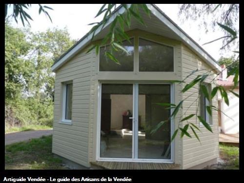 Agrndissement Ossature bois 85150  SAINTE FLAIVE DES LOUPS avec BARDAGE PINUS