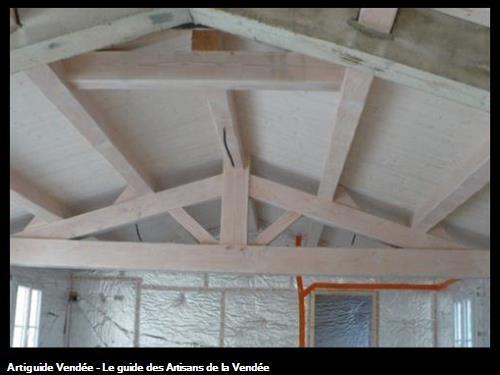 réalisation d'une charpente apparente sur Noirmoutier en l'ile 85330