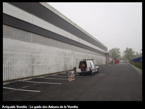 Bardages, Entreprise Jallais - 44980 Ste-Luce-sur-Loire, avant nettoyage.