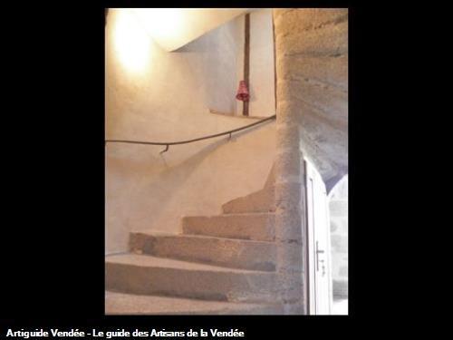 Restauration d'un escalier du 14ème