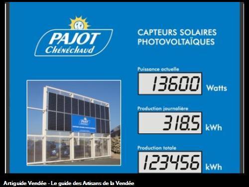 Installation de capteurs solaires photovoltaïques sur notre siège social à Olonne Sur Mer.