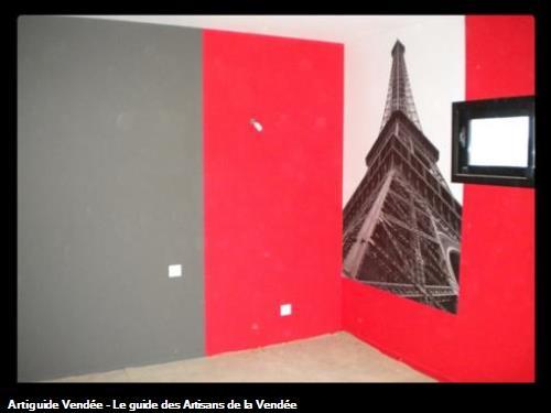 Bonnaud claude sarl peintre en batiment la roche sur yon - Comment peindre un mur en rouge ...