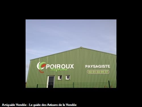Batiment de l'entreprise Poiroux Stéphane Paysagiste sur la commune de Saint Vincent sur Jard