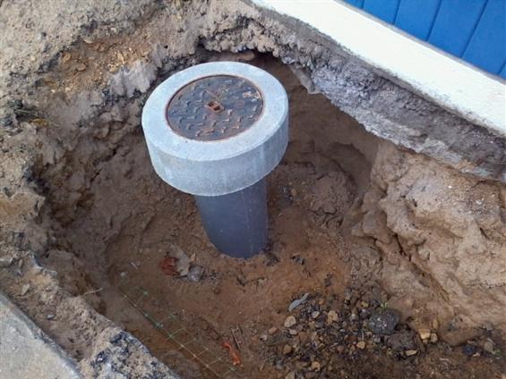 Pose tabouret eau usée par l'entreprise JMRTP 85440 Talmont Saint Hilaire